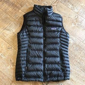 Patagonia Womens Down Vest Black EUC Size XS